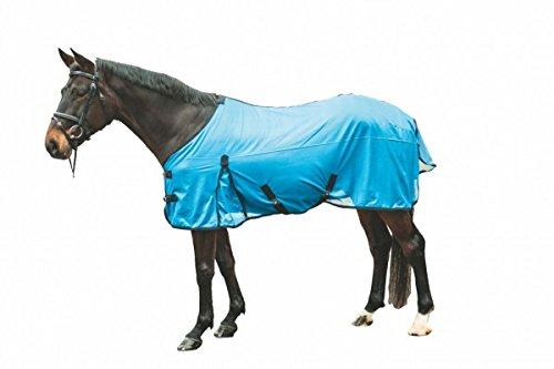 HKM Fliegendecke -Spring- mit Kreuzgurt, dunkelrot/dunkelblau, Rückenlänge 145 cm