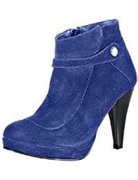 df2d0be42e44f Amazon.es  Ante - Piel   Botas   Zapatos para mujer  Zapatos y ...