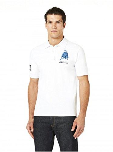 Polo-Shirt Automobili Lamborghini-Sportwagens Le Mans lx111Bull weiß Polo, Herren, weiß - Lamborghini-shirt