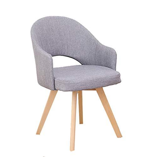 DUOER-Klappstühle Stoff Esszimmerstühle Retro Sessel Freizeit Stühle Gepolsterter Sitz Mit Massivholzbeinen Für Home Office Conservatory (Color : Gray) -