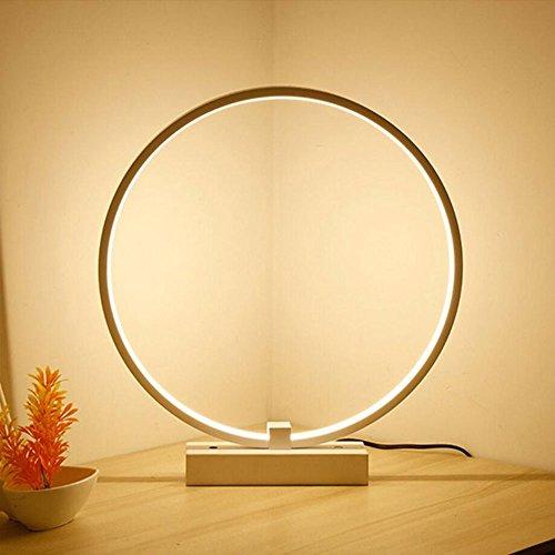 LIVY Circle LED Tischlampe aus Aluminium, moderne Schreibtischlampe Kreative Kunst Acryl...
