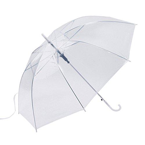 Swiftswan Klarer Regenschirm, Auto Open Verbesserte Version Windproof Leichtgewicht für Männer Frauen und Kinder