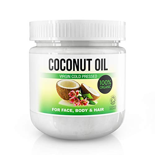 Kaltgepresstes extranatives Kokosöl für die Körper-, Haar-, Nagel- und Gesichtspflege, Coconut Moisturiser 100% organisch 500 ml