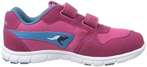 Kangaroos Bluerun Squash, Sneakers Basses Mixte enfant multicolore(magenta/dk smaragd 688)