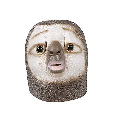 Zu Kostüm Hause Halloween - molezu Faultiermaske, Tiermaske, Latexmaske, Halloween Kostümzubehör, Witzige Pferde Maske für kultige Auftritte schwarzes Pferd (Faultier) (Faultier)