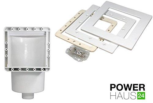 POWERHAUS24 - Premium Skimmer Komplett Set mit Einströmdüse, Saugplatte, Rahmenblenden, Lippendichtung, Schlauchtülle und allen Dichtungen - 2