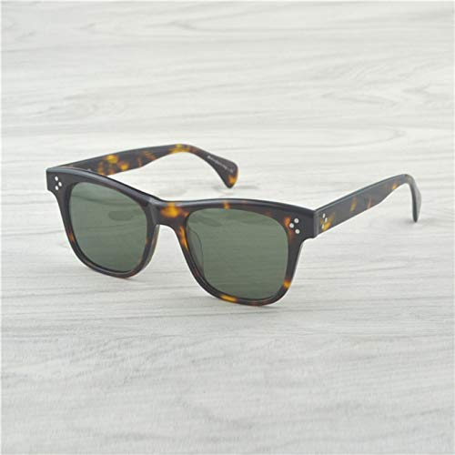 LKVNHP Neue Art UndWeise Qualitäts -Mann -Retro -Sonnenbrille -Frauen -Weinlese -Ronud Sonnenbrille -Frauen Gläser Polarisierte Sonnenbrille MännerVs Brown