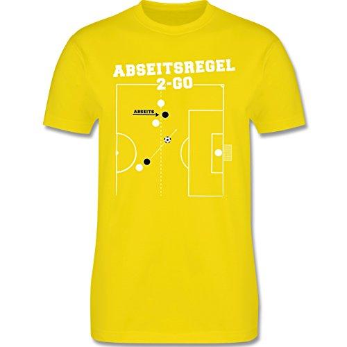 Fußball - Abseitsregel-2-Go - Herren Premium T-Shirt Lemon Gelb