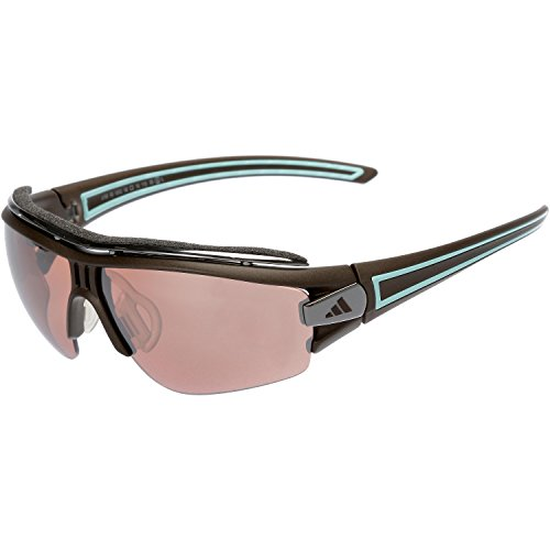 adidas Herren Sonnenbrille Sport Evil Eye Halfrim Pro S Matt brown/turquo
