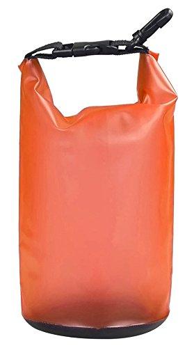 LiLiRoseuk Farbige Driften wasserdichte Tasche für Boot und Kajak Angeln Rafting Schwimmen Campin Kanu fahren 2L orange