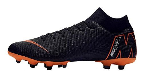 Fußballschuhe Nike Fußball (Nike Herren Mercurial Superfly VI Academy MG Fußballschuhe, Schwarz (Black/Total Orange-W 081), 44 EU)