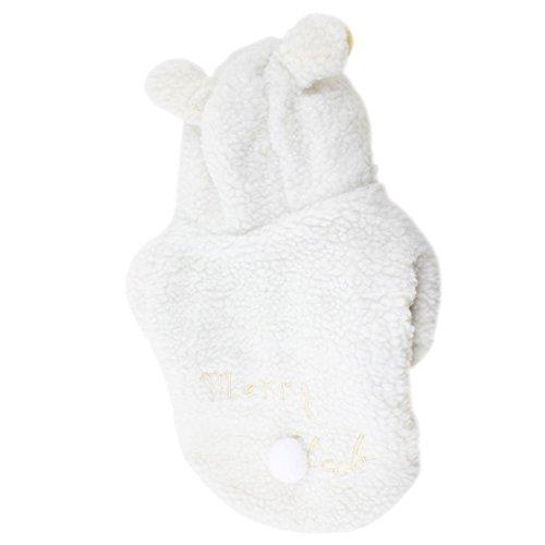 Imagen de ropa bonita de mascota  sodial r blanco disfraz abrigo de caniche perro mascota de boton del perno prisionero de diseno oveja l alternativa
