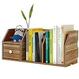Bücherregal Chunlan Schreibtisch mit Schublade Kleines Regale Kleines Büro-Lagerregal, 55 * 20 * 24cm (Farbe : Nussbaum, größe : 55 * 20 * 24cm)