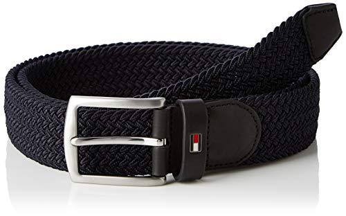 Tommy Hilfiger Denton Elastic Belt 3.5, Cintura Uomo, Blu (Tommy Navy 413), 6 (Taglia Produttore: 90)