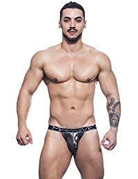 Andrew Christian Massive Collection Gun Metal Color Massive Luxe Jockstrap Underwear For Men