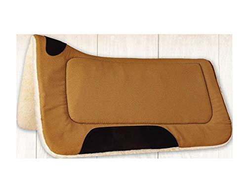 Mustang Contoured Canvas Fleece Pad Brown Canvas Fleece