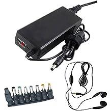 Adaptador de corriente de 90 W Amsahr universal del reemplazo con el auricular estéreo para la mayoría de ordenador portátil