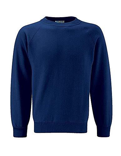 Blue Max Banner Herren Sweatshirt Blau Marineblau - Banner Raglan
