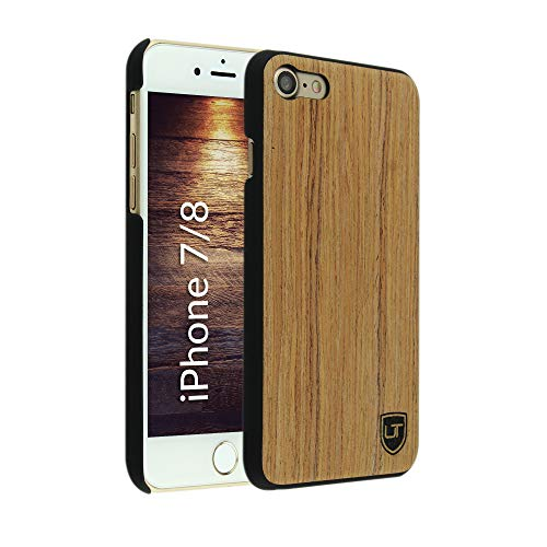 UTECTION Holzhülle Cover für Apple iPhone 7/8 ** Eco Echt Holz - Ultra-Slim ** Einzigartiges Desgin ** Perfekte Passgenauigkeit ** Woodcase in Abachiholz