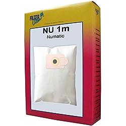 3Sacs Aspirateur Nu 1m en microfibre non-tissée de filtre Clean compatible avec Numatic James SE 250, Numatic James NVR 264, Numatic James NVR 263, Numatic James NVR 262, Numatic James NVR 261, Numatic James NVR 260, Numatic James NVR 225, Numatic James NV 225, Numatic James NV 250, Numatic James JVR 225, Numatic James JVC 225, Numatic James AV250, Numatic Henry HVR 200, Numatic Henry HVC 200, Numatic Henry HV 200, James James AV 250, etc.