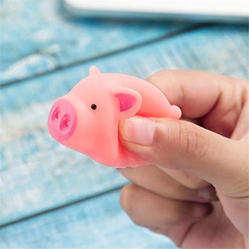 Mini Gummi Schweine Dekompression Gesangsspielzeug Praktische Witze Kinder Nettes Spielzeug Vent Spielzeug Nettes Spielzeug (12 ()