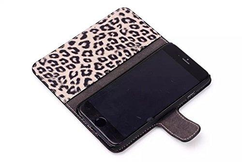 """inShang Hülle für Apple iphone 6 PLUS 5.5 inch iphone 6+ 5.5"""", Edles PU Leder Tasche Hülle Skins Etui Schutzhülle Ständer Smart Case Cover für iphone 6 PLUS Cell Phone, Handy , Zubehör + inShang Logo  Leopard brown"""