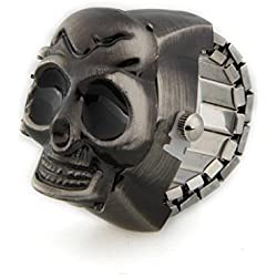Facilla 23mm Skull Ring Clock Finger Watch Uhr Watch Top