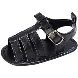 Culater® Bambino delle ragazze del bambino della greppia pattini svegli dei sandali molli (12 ~ 18 Mesi, Nero)