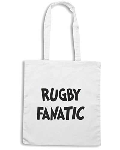 T-Shirtshock - Borsa Shopping TRUG0046 rugby fanatic logo Bianco