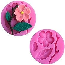 Joyfeel buy Molde de Pastel de Fondant 3D Hojas Molde reposteria Chocolate DIY decoración de Pasteles