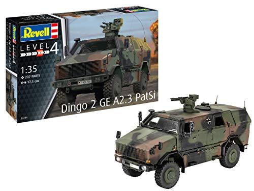 Revell 03284 Dingo 2 GE A2.3 PatSi originalgetreuer Modellbausatz für Fortgeschrittene, Mehrfarbig, 1/35