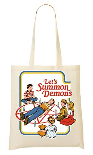 BakoIsland Let's Summon Demons Retro Vintage Poster Sacchetto Di Tote Bag
