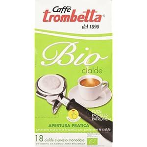 Caffè Trombetta, Caffè in Cialda ESE, Biologico - 4 Confezioni da 18 Cialde (Totale 72 Cialde)