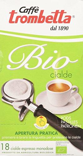 Caffè trombetta cialda biologica - 4 confezioni da 18 cialde