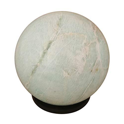 Craftstribe amazzonite crystal healing di pietra sfera sfera naturale della pietra preziosa con l'anello
