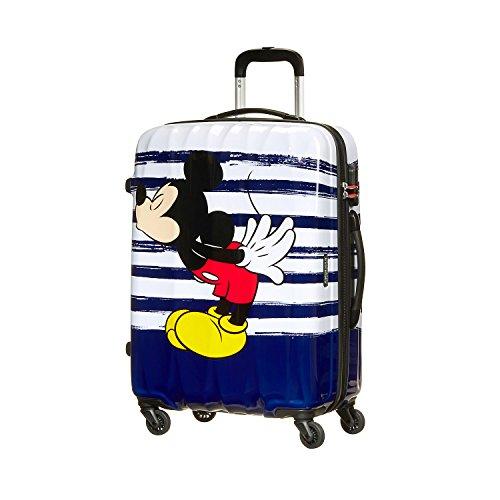 American Tourister Disney Legends Spinner M Valigia per bambini, 65 cm, 62.5 L, Multicolore (Mickey Kiss)