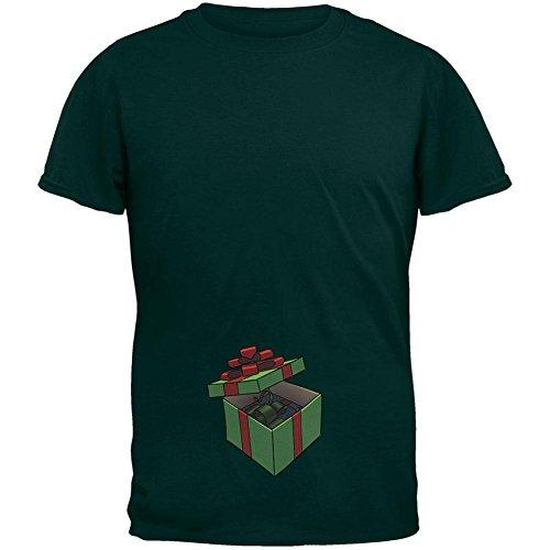 Box im Weihnachtswald Geschenk Box Erwachsenen T-Shirt Green