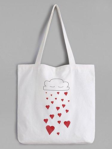 romantische Herzen und Wolke Tote bag - Shopper Tasche