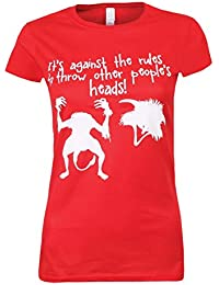 It's Against The Rules Ladies T-Shirt Red
