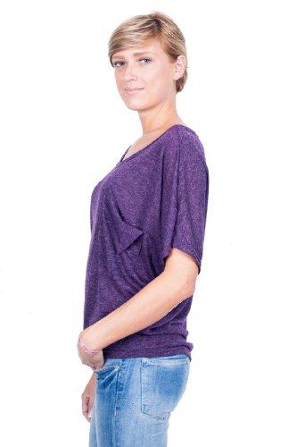 Ella Manue Frauen Oversize Shirt Emma Violett