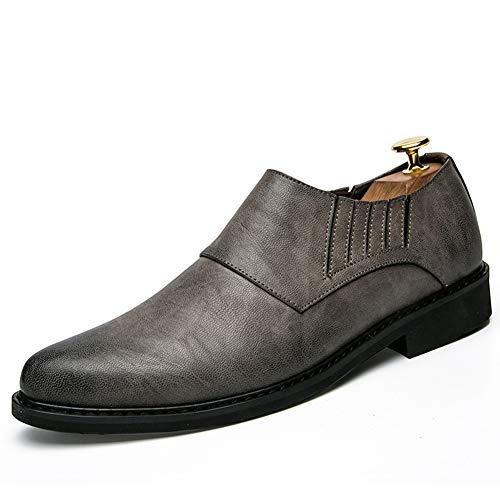 gleiten Spitze Business Casual Schuhe Party Uniformen büro Derby City Vier Jahreszeiten atmungsaktiv flach niedrig zu tragen,Gray,41 ()