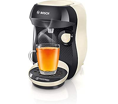 Bosch Tassimo Happy TAS1007GB Coffee Machine, 1400 Watt, 0.7 Litre - Black & Cream from Tassimo by Bosch