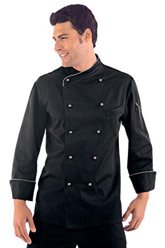 Isacco - Veste Chef Cuisinier Lima Noir Noir