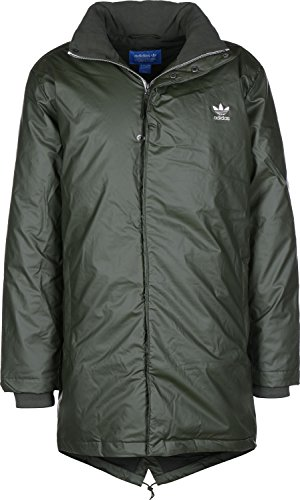 Adidas Originals Jackets - Adidas Originals Long Down Parka Jacket - Night Cargo F15 Long Down Parka