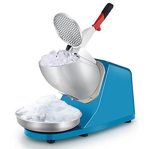 DELLT- Elektrische Ice Crusher, Gewerbe/Home Edelstahl-Eis-Maschine, Sand Eismaschine, Eis-Mixer, Kleine Eismaschine Eis Porridge Maschine Schneeflocke-Eis, 1450rmp