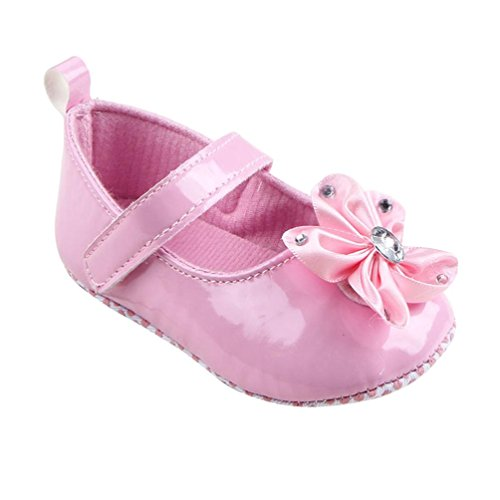 Per 0~18 mesi ,Amlaiworld Ragazza del bambino Suola morbida culla Scarpe Sneaker di fiori (rosa, 12 ~ 18 mesi)