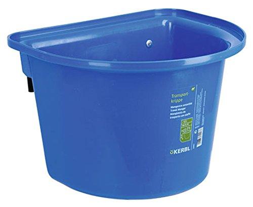 2 Stück Transport-Krippe blau 12 Liter Pferdetrog Pferdetränke zum Einhängen