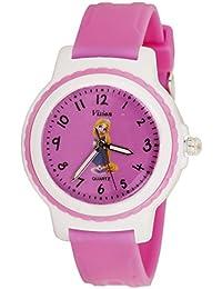 Vizion Analog Pink Dial (Rapunzel- Golden Hair Princess) Cartoon Character Watch for Kids-V-8829-4-3