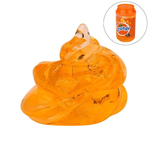 Klar, Flash (Omiky® Dosen Flash-Pulver Klar Slime Duft Stress Relief Spielzeug Schlamm Spielzeug (Orange))
