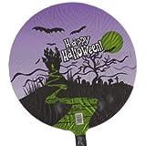 Folienballon Spukhaus Friedhof Happy Halloween schwarz grün rund ca. 45 cm ungefüllt (Ballongas geeignet)